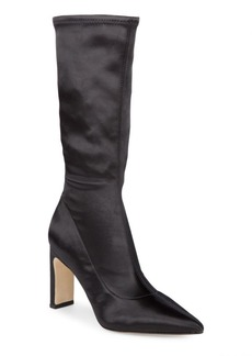 Sigerson Morrison Satin Mid-Calf Boots