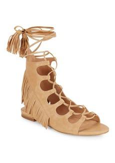 Sigerson Morrison Smazzia Suede Lace-Up Gladiator Sandals
