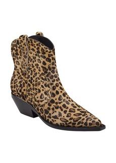 Sigerson Morrison Tacy Leopard Spot Genuine Calf Hair Western Bootie (Women)