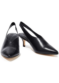 Sigerson Morrison Woman Bala Leather Slingback Pumps Black