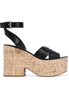 Sigerson Morrison Woman Becca Leather Platform Sandals Black