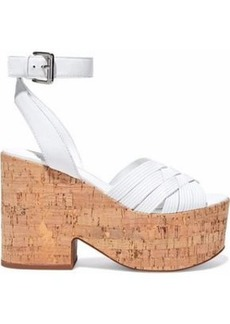 Sigerson Morrison Woman Becca Leather Platform Sandals White