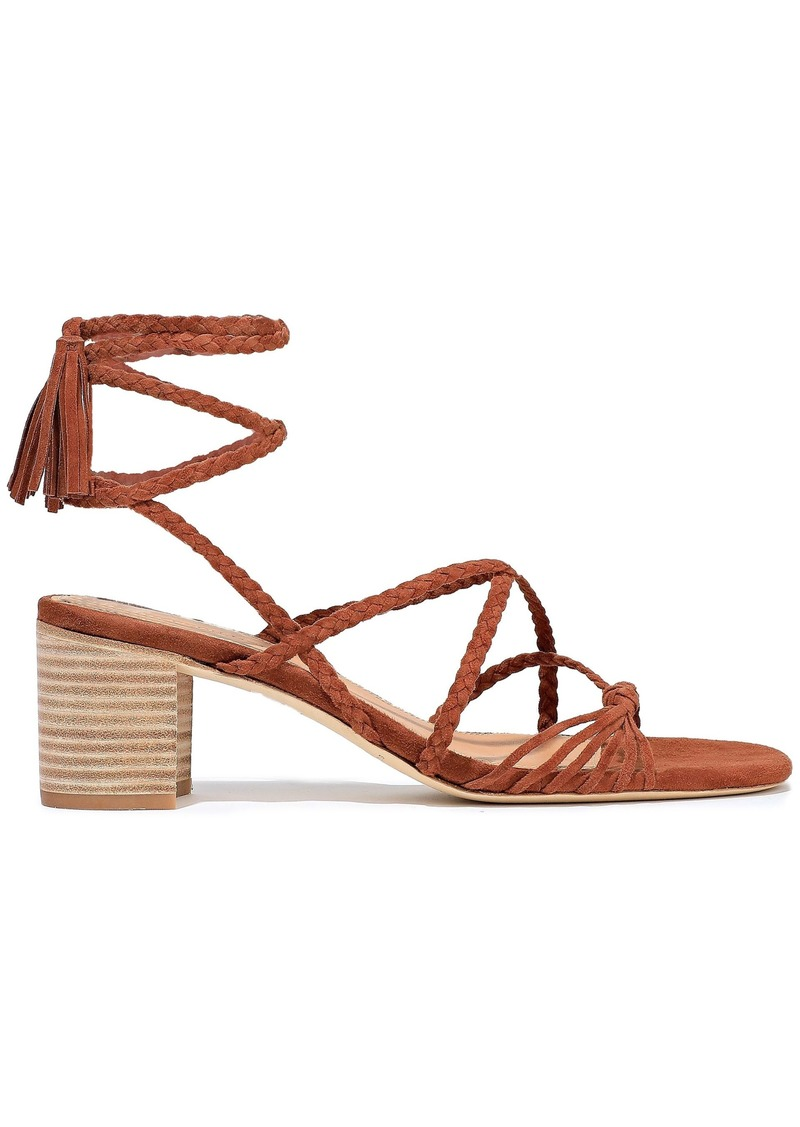 Sigerson Morrison Woman Haize Knotted Braided Suede Sandals Brown