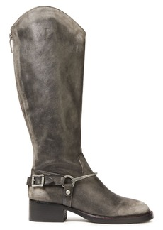 Sigerson Morrison Woman Helana Buckled Leather Knee Boots Dark Brown