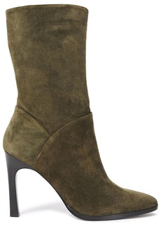 Sigerson Morrison Woman Kiona Suede Boots Army Green