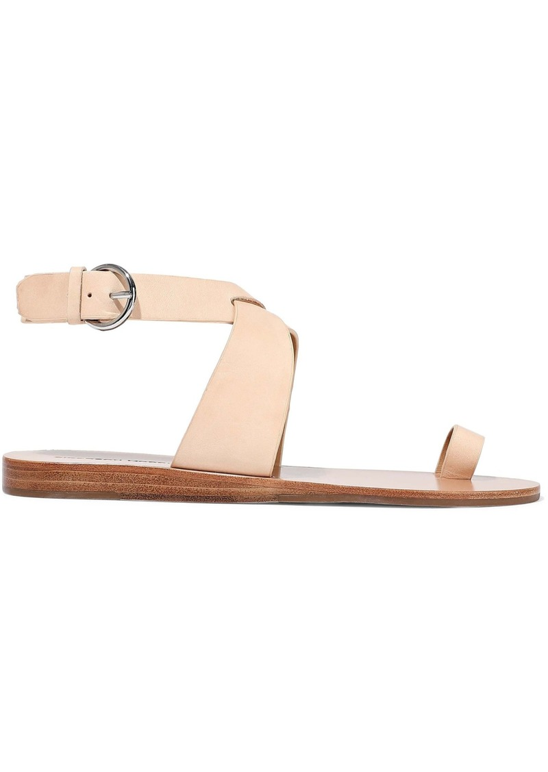 Sigerson Morrison Woman Kyra Leather Sandals Neutral