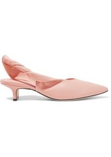 Sigerson Morrison Woman Melina Twisted Leather Slingback Pumps Pastel Pink