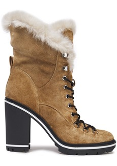 Sigerson Morrison Woman Odelia Faux Fur-lined Suede Ankle Boots Light Brown
