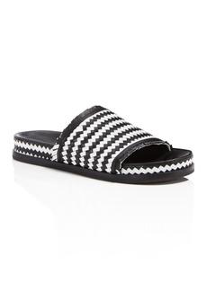 Sigerson Morrison Women's Aoven Woven Leather Pool Slide Sandals