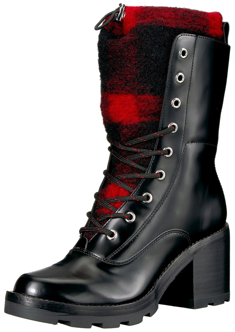 Sigerson Morrison Women's Gladys Ankle Boot Black RED 7.5 Medium US