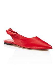 Sigerson Morrison Women's Sham Leather Slingback Flats