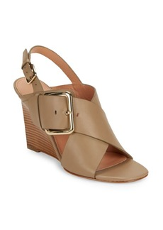 Sigerson Morrison Xia Leather Wedge Sandals