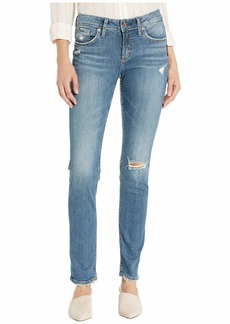 Silver Jeans Avery High-Rise Curvy Fit Slim Leg Jeans in Indigo L94317SJL211