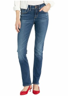 Silver Jeans Avery High-Rise Curvy Fit Straight Leg Jeans in Indigo L94443SDG31