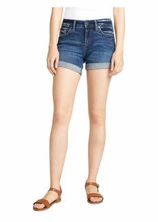 Silver Jeans Boyfriend Mid-Rise Shorts L53608SDK357