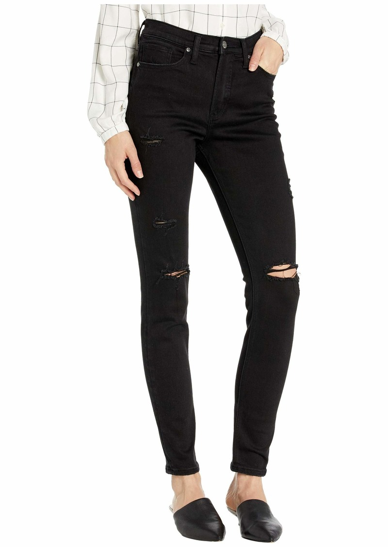 Silver Jeans Calley Super High-Rise Curvy Fit Skinny Jeans in Black L95101SBK554