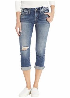 Silver Jeans Elyse Curvy Fit Capri Jeans in Indigo L43022SDK360