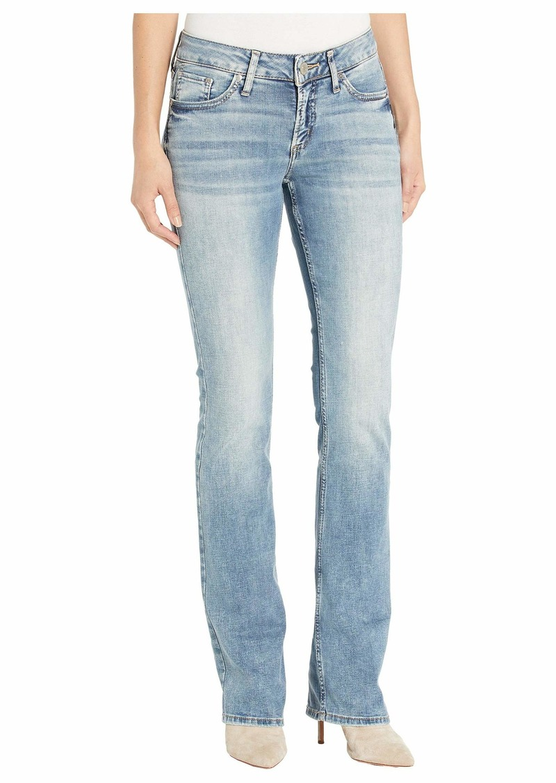 Silver Jeans Elyse Mid-Rise Curvy Fit Slim Bootcut Jeans in Indigo
