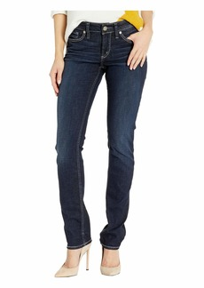Silver Jeans Elyse Mid-Rise Curvy Fit Straight Leg Jeans in Indigo L03403SDK441