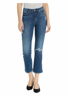 Silver Jeans High Note High-Rise Boot Crop Jeans in Indigo L44216SDK228