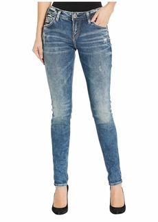 Silver Jeans Mid-Rise Skinny Leg Girlfriend Jeans L27137SJL388