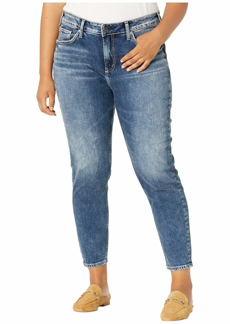 Silver Jeans Plus Size Avery High-Rise Curvy Fit Skinny Jeans in Indigo W94116SCP306