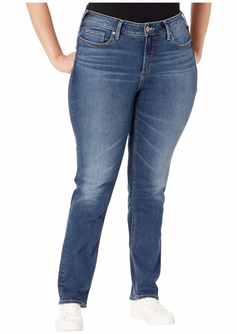 Silver Jeans Plus Size Avery High-Rise Straight Leg Jeans in Indigo W94443SDG313