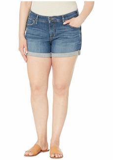 Silver Jeans Plus Size Boyfriend Mid-Rise Shorts in Indigo W53608SJL354