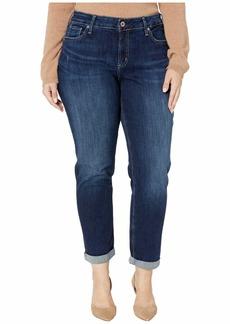 Silver Jeans Plus Size Boyfriend Mid-Rise Slim Leg Jeans in Indigo