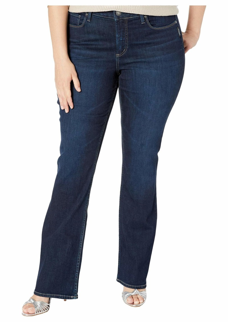 Silver Jeans Plus Size Elyse Mid-Rise Slim Boot Leg Jeans in Indigo W03601SDK470