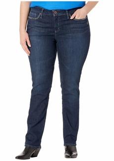 Silver Jeans Plus Size Elyse Mid-Rise Straight Leg Jeans in Indigo W03403ASX479
