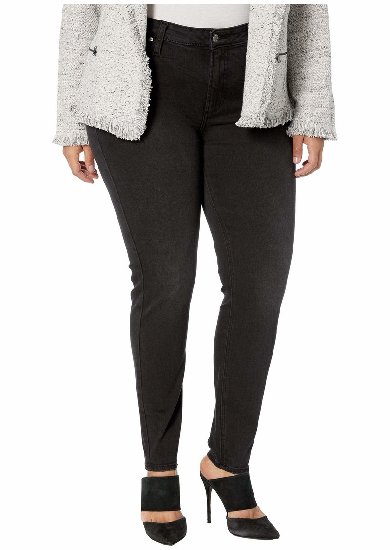 Silver Jeans Plus Size Most Wanted Mid-Rise Skinny Leg Jeans in Black W63022SBK577