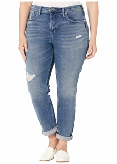 Silver Jeans Plus Size Not Your Boyfriends Jeans Mid-Rise Slim Leg Jeans in Indigo W27336SFV317