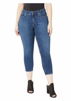 Silver Jeans Plus Size Suki Mid-Rise Curvy Fit Skinny Crop Jeans in Indigo W43969SSX329