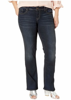 Silver Jeans Plus Size Suki Mid-Rise Perfectly Curvy Slim Boot Jeans in Indigo W93616SSX405