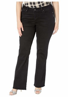 Silver Jeans Plus Size Suki Mid-Rise Slim Boot Jeans in Black W93616SBK591