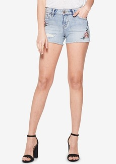 Silver Jeans Co. Aiko Embroidered Denim Shorts