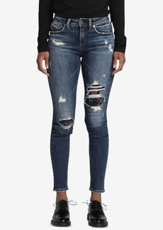 Silver Jeans Co. Avery Ripped Curvy-Fit Skinny Jeans