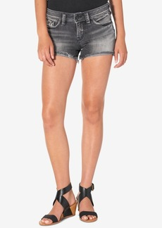 Silver Jeans Co. Berkley Cotton Frayed Denim Shorts