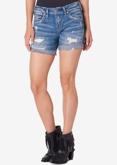 Silver Jeans Co. Boyfriend Indigo Wash Shorts