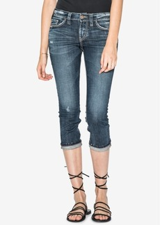 Silver Jeans Co. Elyse Mid Rise Curvy Capri