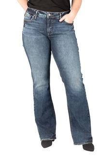 Silver Jeans Co, Elyse High Waist Slim Bootcut Jeans (Plus Size)