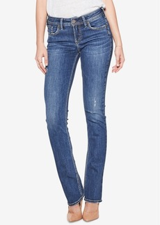 Silver Jeans Co. Elyse Mid Rise Curvy Slim Bootcut Jeans