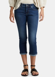 Silver Jeans Co. Elyse Relaxed Curvy-Fit Cropped Jeans