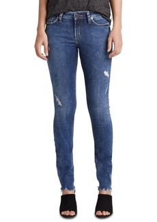 Silver Jeans Co. Elyse Ripped Skinny Jeans