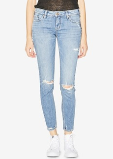 Silver Jeans Co. Elyse Mid Rise Curvy Super Skinny Jeans