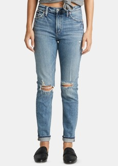 Silver Jeans Co. Frisco Ripped Straight-Leg Jeans