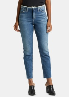 Silver Jeans Co. High Note Frayed Straight-Leg Jeans