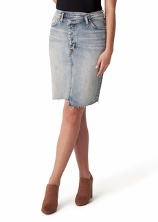 Silver Jeans Co. Highly Desirable Asymmetrical Denim Pencil Skirt