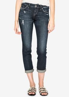 Silver Jeans Co. Juniors' Sam Cuffed Boyfriend Jeans